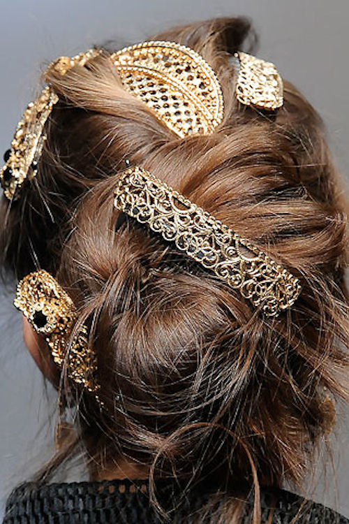 hair clips from Dolce and Gabbana