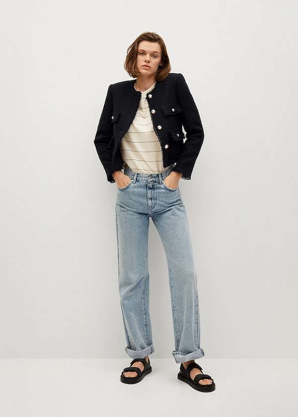 Cropped jacket - which are in fashion and what to wear with photo # 20