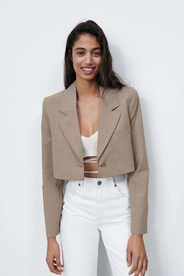 Cropped jacket - which are in fashion and what to wear with photo # 24