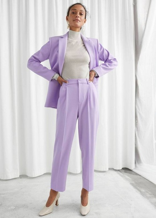 Business suit lavender for office work