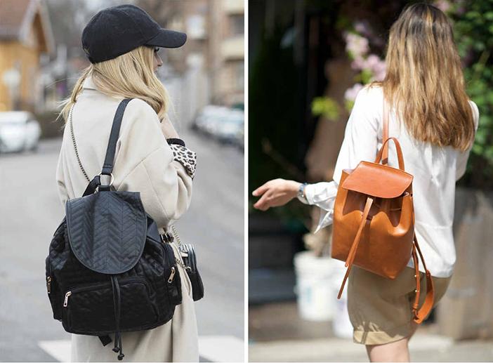 Urban fashionistas wear backpacks with casual wear