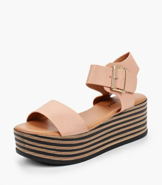 Sandals on the platform on the website of the Lamoda online store