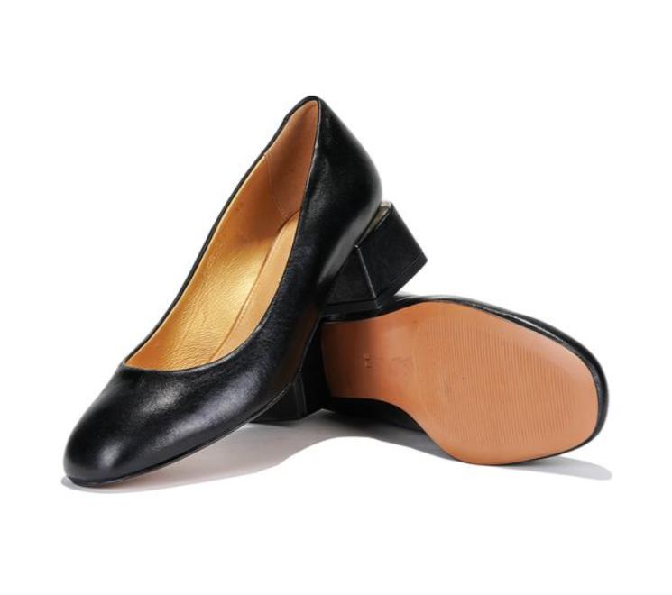 Mida Black Square Heel Shoes