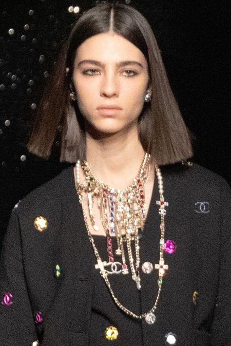 Necklace with multiple chains from the Chanel collection