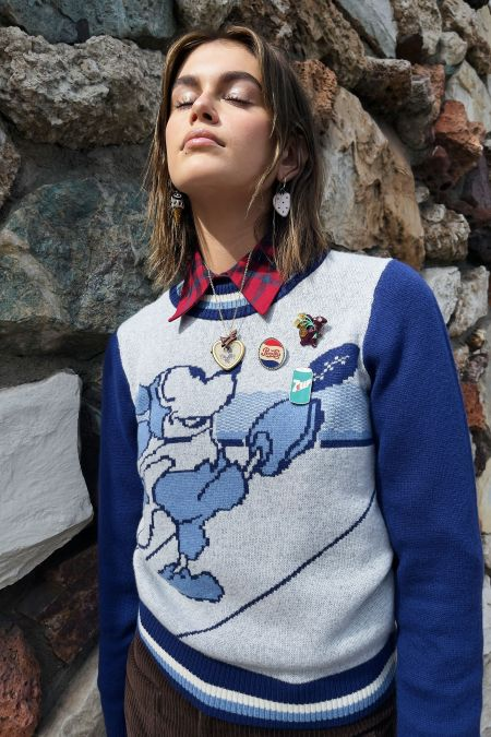 Multi-pin sweater from the Coach collection