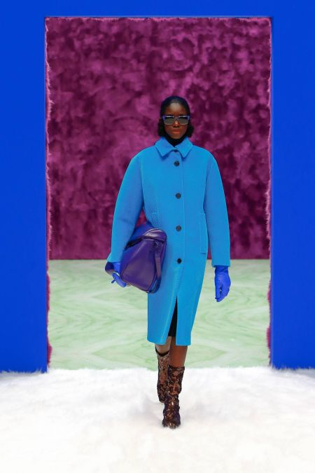 Bulky blue bag.  Prada fall-winter 2021 collection