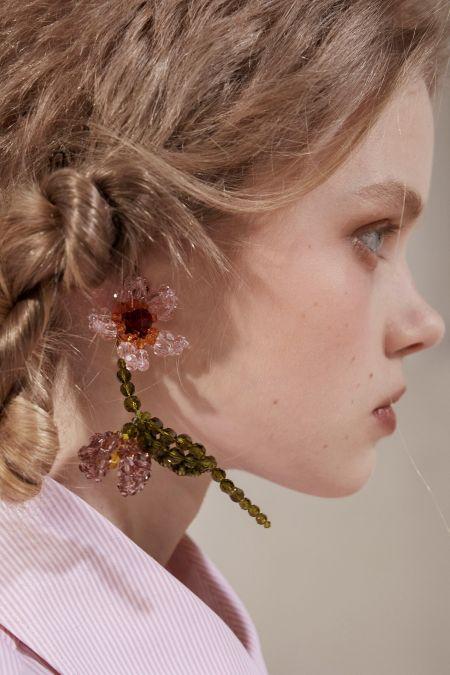 Simone Rocha Beaded Flower Earrings