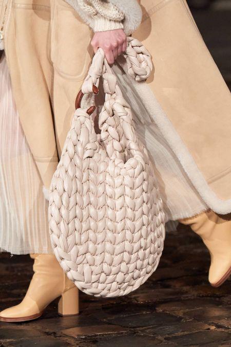 Chloé White Woven Tote Bag