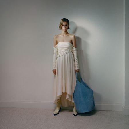 Khaite Tote Bag in Blue
