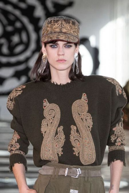Cap from the Fall 2021 Etro collection
