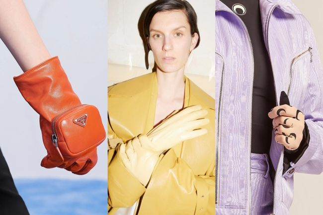 Gloves will be a bright accent of your look this fall