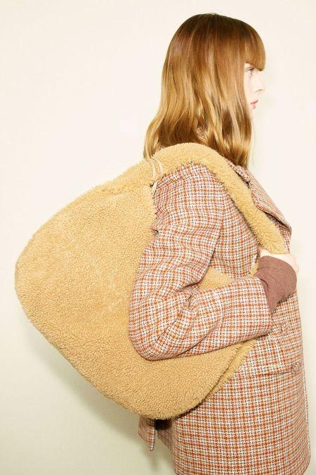Yellow plush bag - a fashion accessory fall 2021