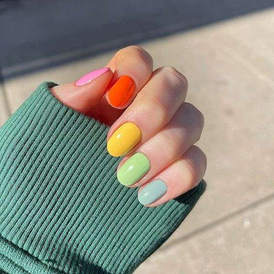 50 ideas for fashionable summer manicure photo # 15