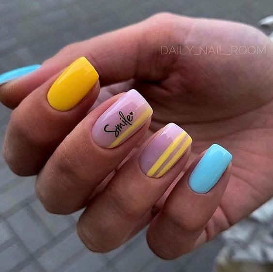 50 ideas of fashionable summer manicure photo # 13