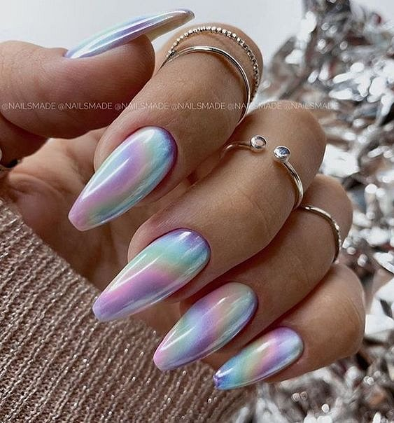 50 ideas for fashionable summer manicure photo # 18