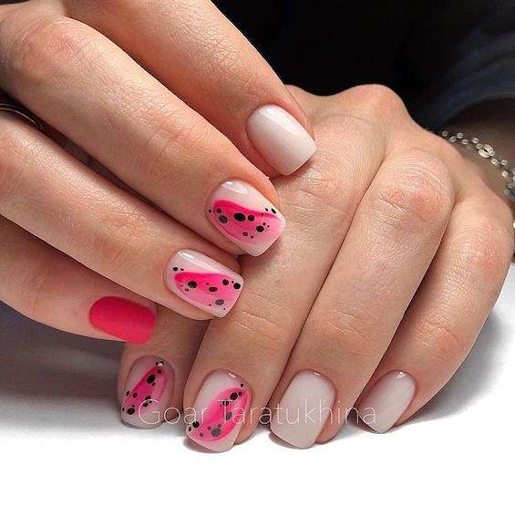 50 ideas for fashionable summer manicure photo # 34