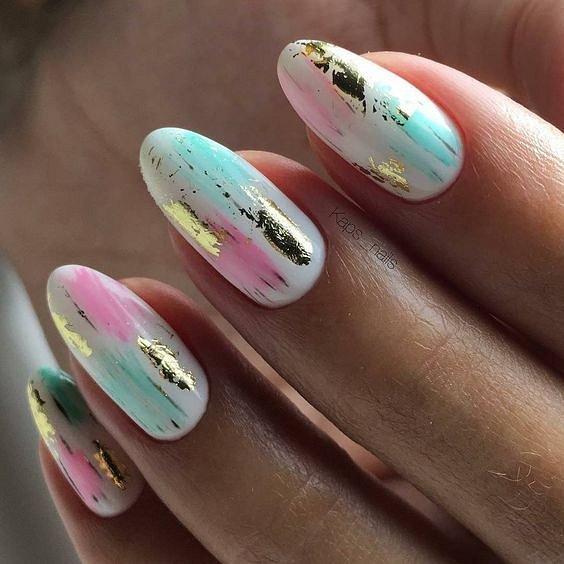 50 ideas of fashionable summer manicure photo # 35