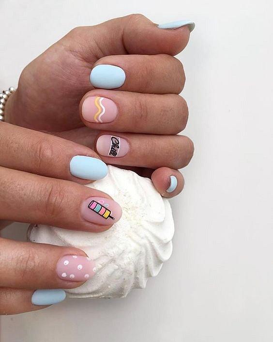 50 ideas of fashionable summer manicure photo # 31