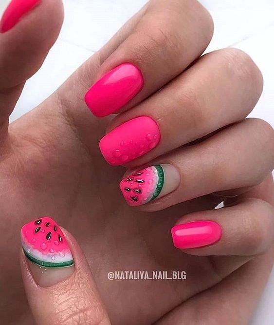 50 ideas of fashionable summer manicure photo # 40