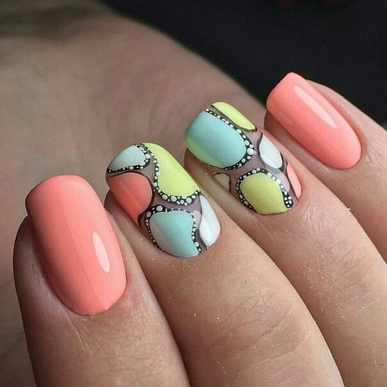 50 ideas for fashionable summer manicure photo # 48