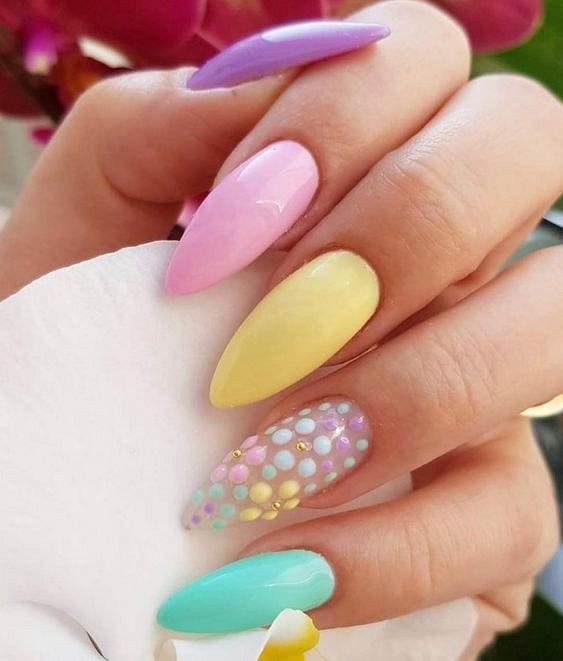 50 ideas for fashionable summer manicure photo # 46