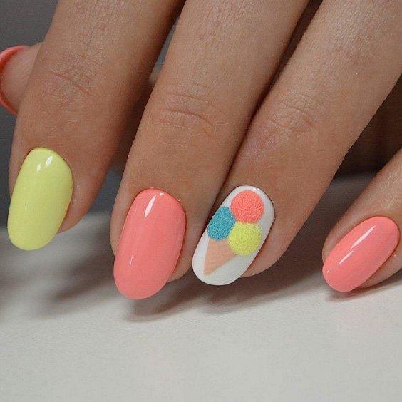 50 ideas of fashionable summer manicure photo # 50