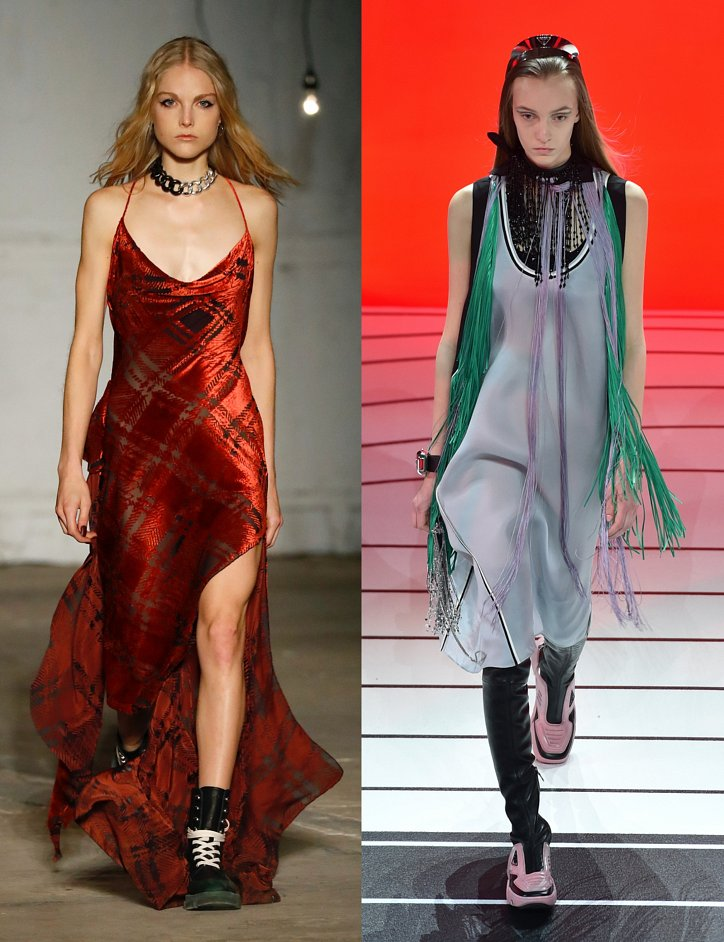 Slip dress.  What to wear with?  photo # 4