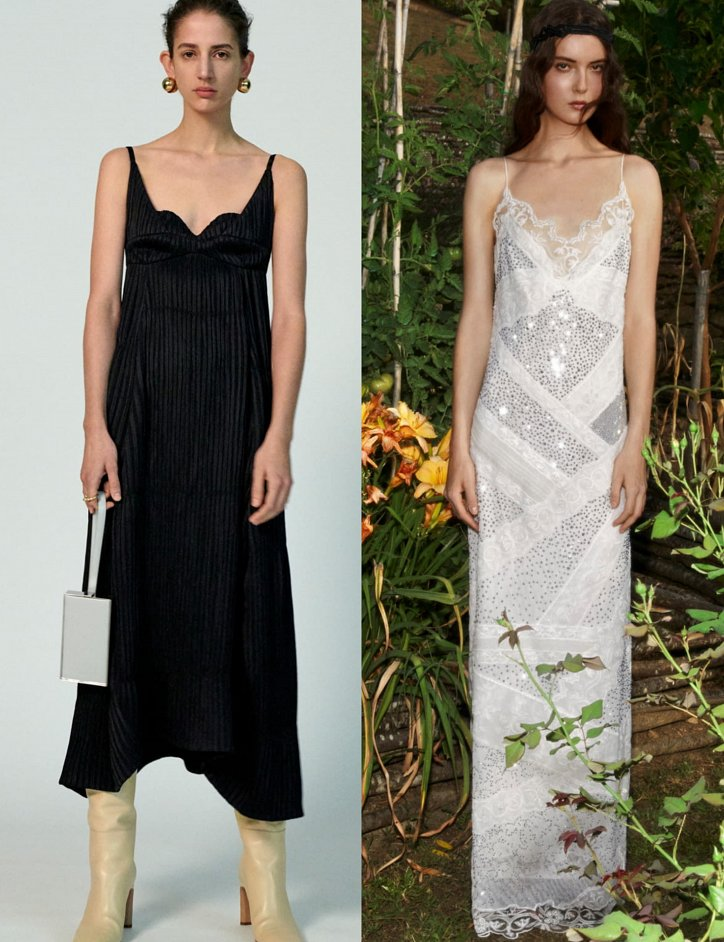 Slip dress.  What to wear with?  photo # 5