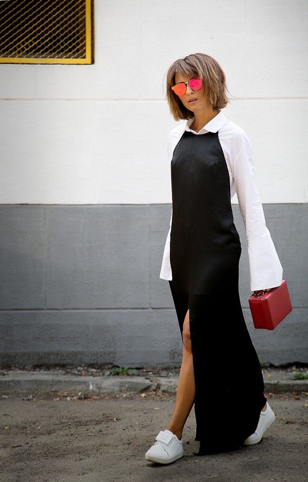 Slip dress.  What to wear with?  photo # 26