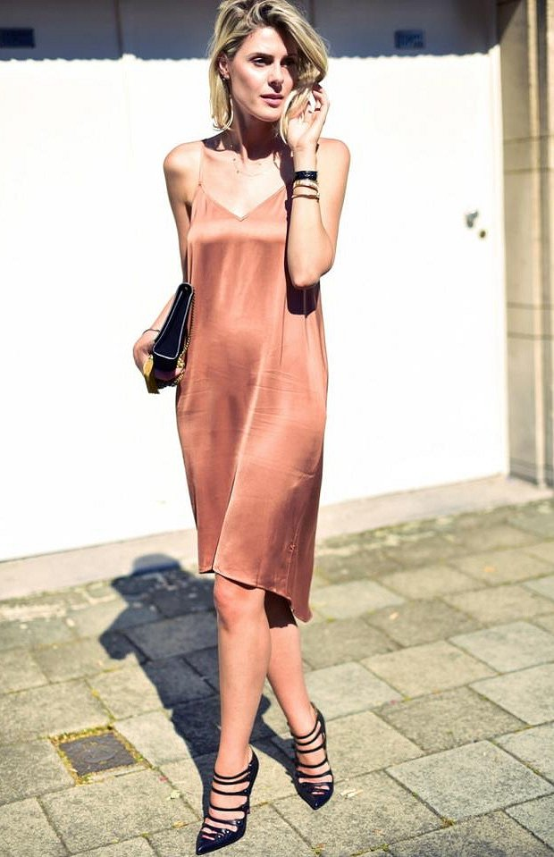 Slip dress.  What to wear with?  photo # 19