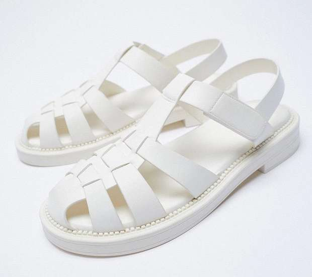Fashionable summer flat-soled shoes photo # 7