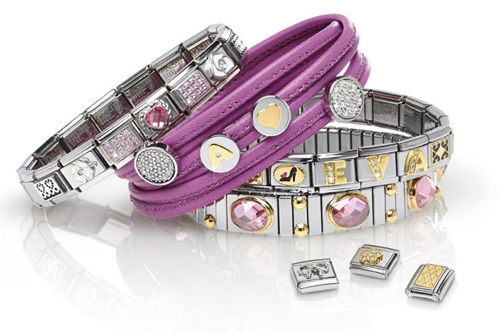 The same composite bracelet, trimmed with gold and natural stones