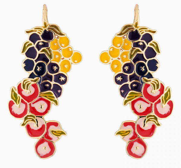 """Earrings from the collection """"Botany"""" for a bold and bright image"""