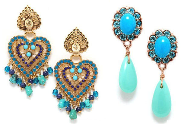 Amaro turquoise and crystal earrings are perfect for an evening out