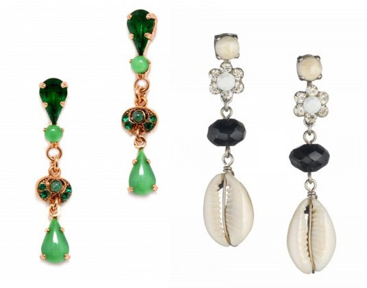 Exquisite earrings finished with jade, agate and shells
