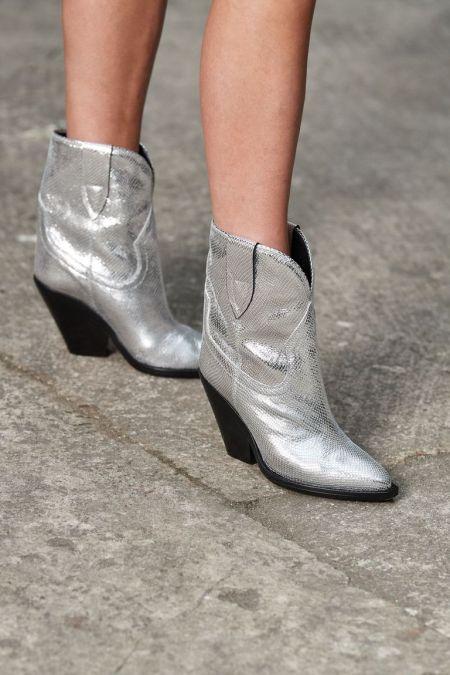 Isabel-Marant Silver Cossack Boots