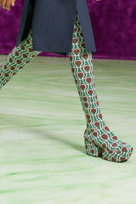 Graphic Platform Stocking Boots