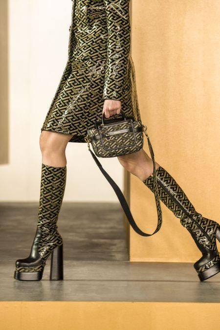 Versace Signature Print Platform Boots