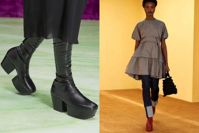 Chunky sole shoes - fall / winter 2021 fashion