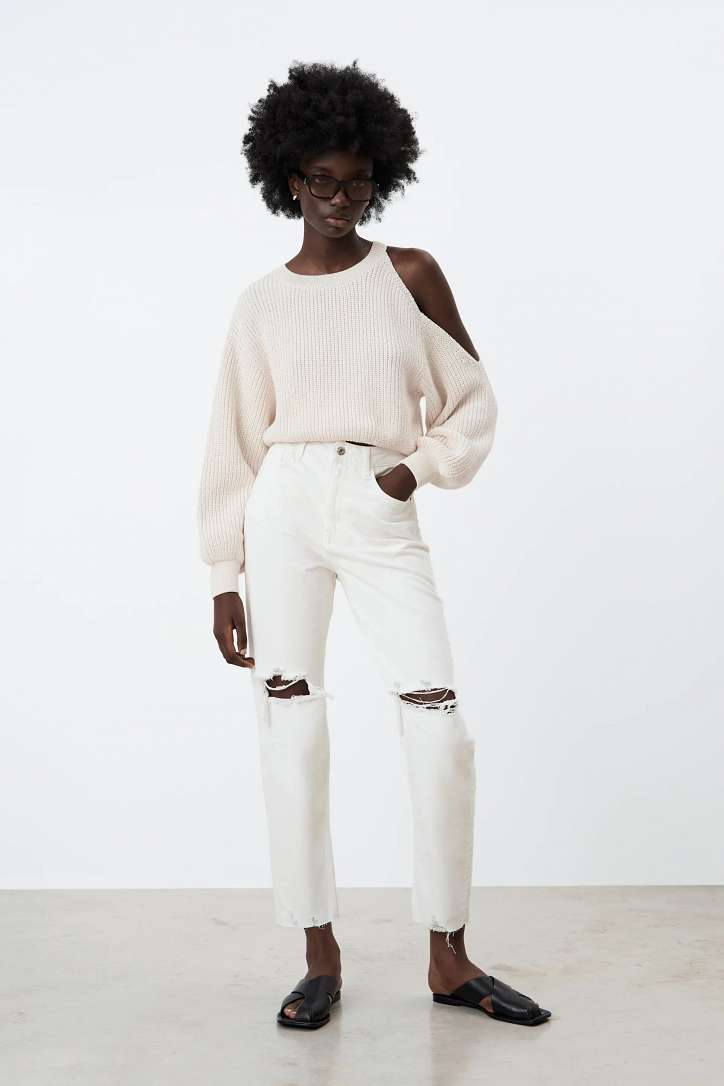 What to wear with white jeans: stylish bows on the note photo # 6