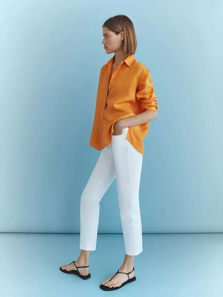 What to wear with white jeans: stylish bows on the note photo # 4
