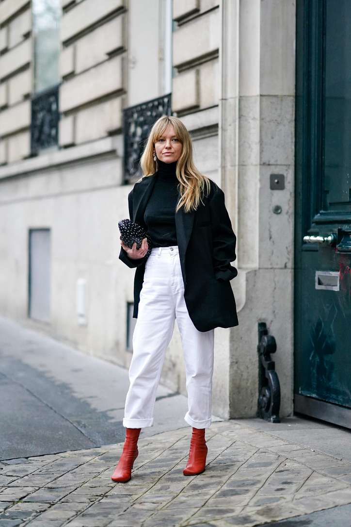 What to wear with white jeans: stylish bows on the note photo # 11