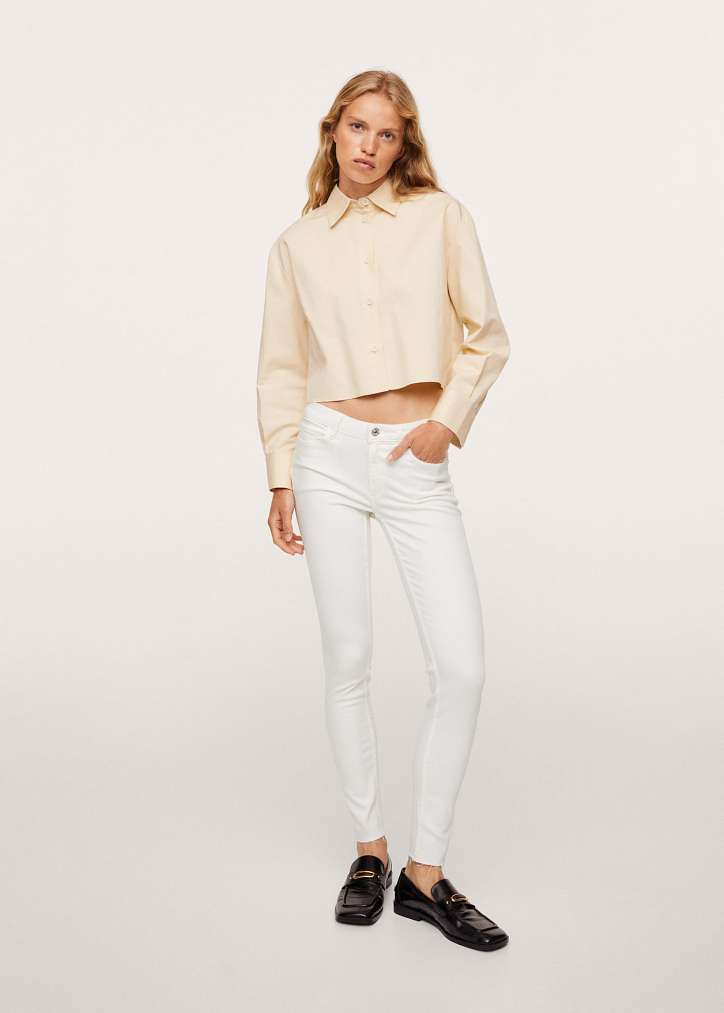 With what to wear white jeans: stylish bows on the note photo №9