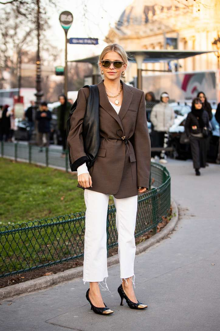 With what to wear white jeans: stylish bows on the note photo # 12