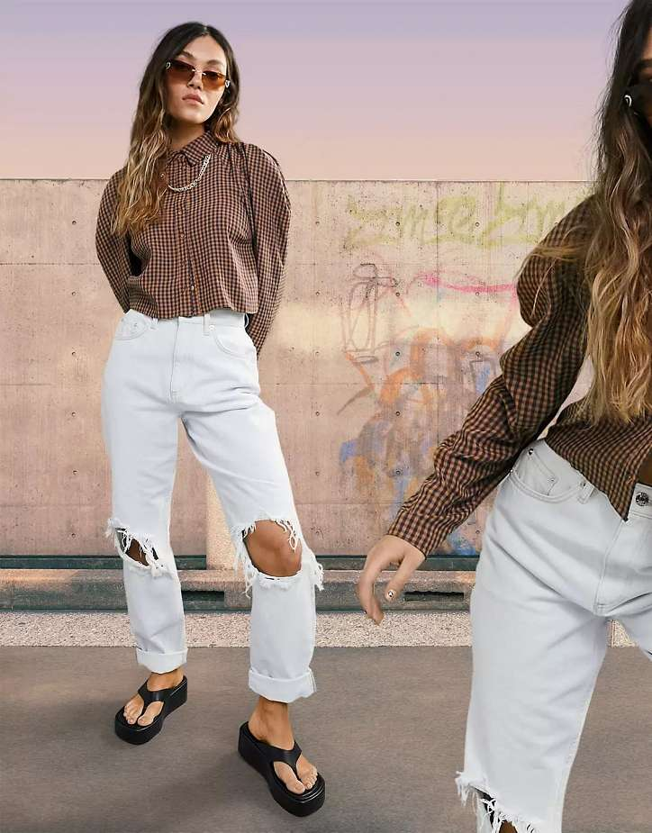 What to wear with white jeans: stylish bows on the note photo # 7