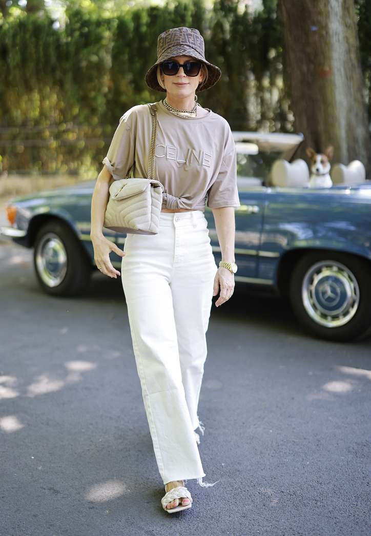 What to wear with white jeans: stylish bows on the note photo # 19