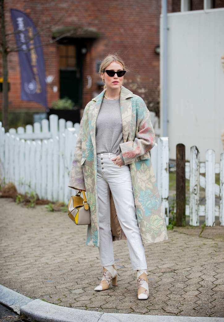 With what to wear white jeans: stylish bows on the note photo # 20