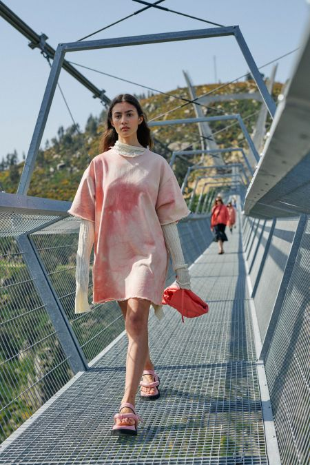 Marques'Almeida Pink Long Track Dress