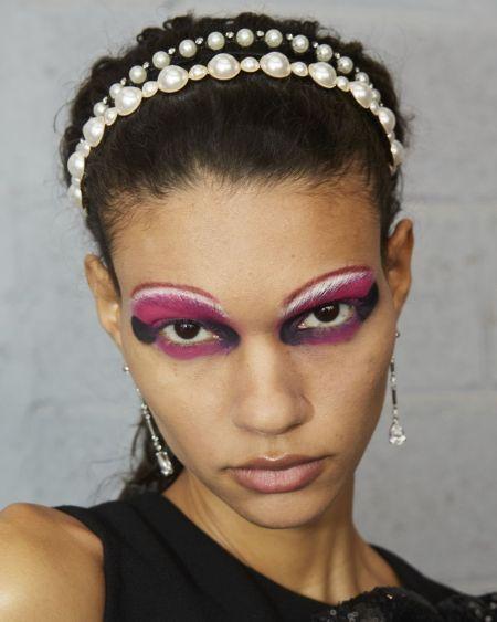 Eye makeup with shadow shading