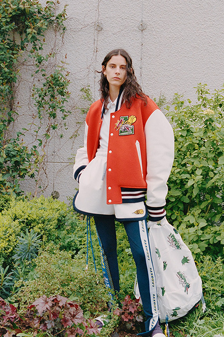 Leggings.  Lacoste jacket and shorts fall-winter 2021-2022